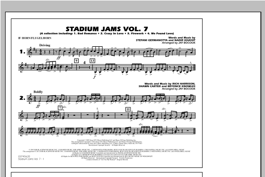 Stadium Jams Vol. 7 (Ladies Of Pop) - Bb Horn/Flugelhorn Sheet Music