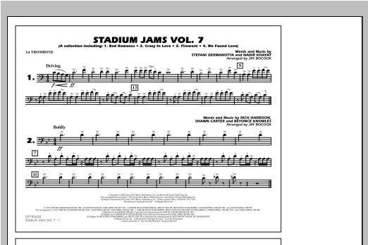 Stadium Jams Vol. 7 (Ladies Of Pop) - 1st Trombone Sheet Music