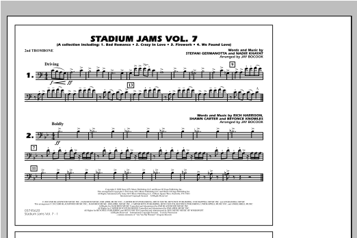 Stadium Jams Vol. 7 (Ladies Of Pop) - 2nd Trombone Sheet Music
