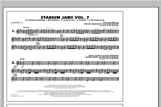 Stadium Jams Vol. 7 (Ladies Of Pop) - Baritone T.C. Sheet Music
