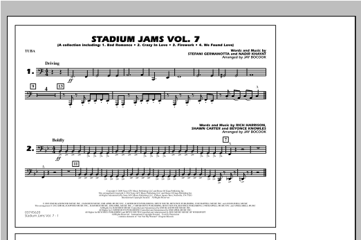 Stadium Jams Vol. 7 (Ladies Of Pop) - Tuba Sheet Music