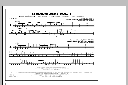 Stadium Jams Vol. 7 (Ladies Of Pop) - Quad Toms Sheet Music