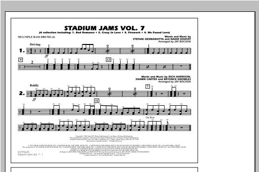 Stadium Jams Vol. 7 (Ladies Of Pop) - Multiple Bass Drums Sheet Music