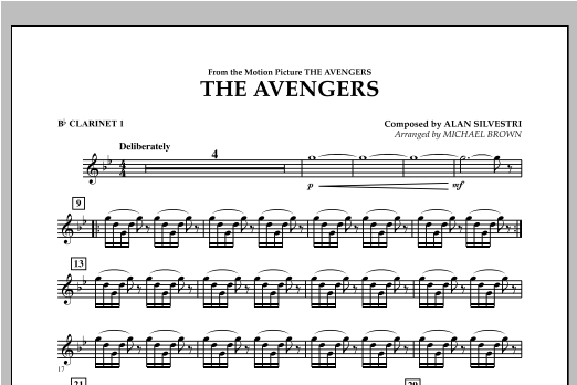 The Avengers - Bb Clarinet 1 Sheet Music