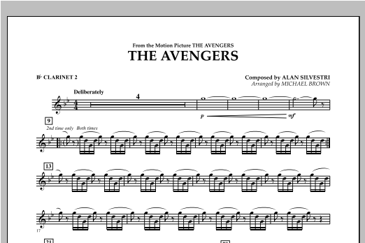 The Avengers - Bb Clarinet 2 (Concert Band)