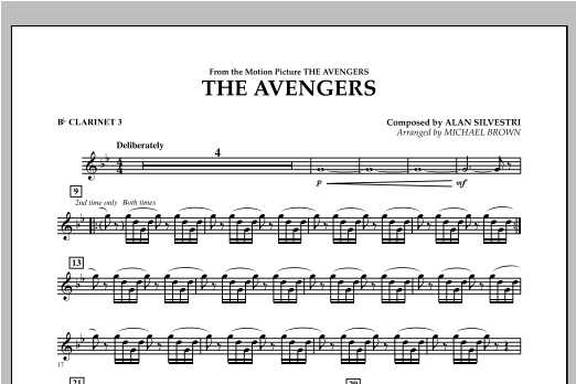 The Avengers - Bb Clarinet 3 Sheet Music