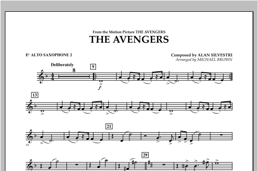 The Avengers - Eb Alto Saxophone 2 Sheet Music