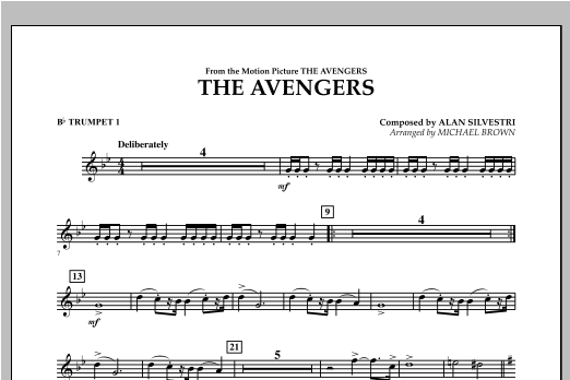 The Avengers - Bb Trumpet 1 Sheet Music