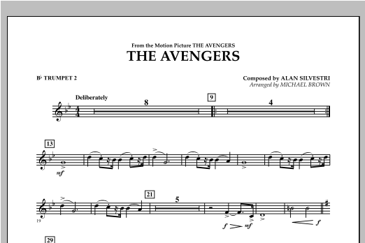 The Avengers - Bb Trumpet 2 Sheet Music