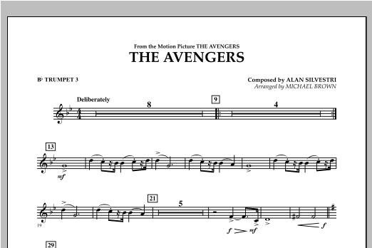The Avengers - Bb Trumpet 3 Sheet Music