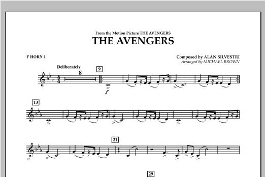 The Avengers - F Horn 1 Sheet Music