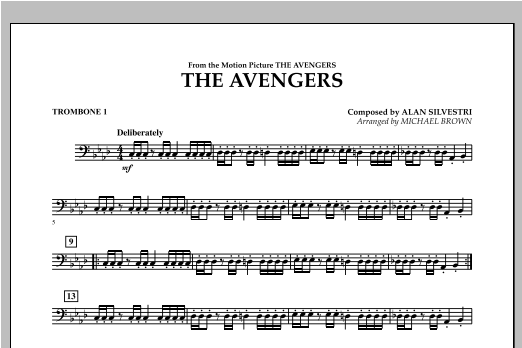 The Avengers - Trombone 1 Sheet Music