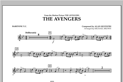The Avengers - Baritone T.C. Sheet Music
