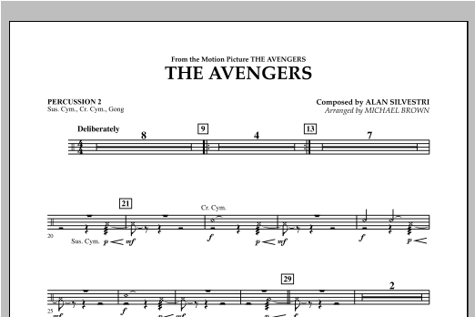 The Avengers - Percussion 2 Sheet Music