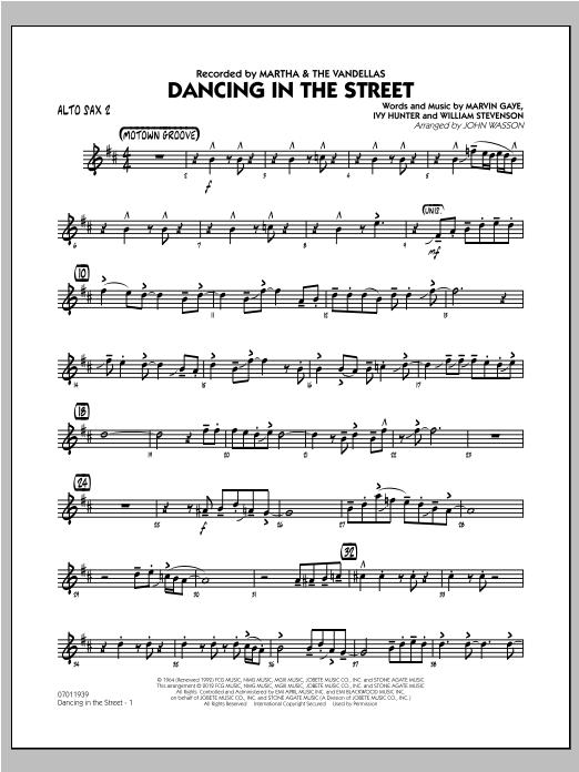 Dancing In The Street - Alto Sax 2 Sheet Music