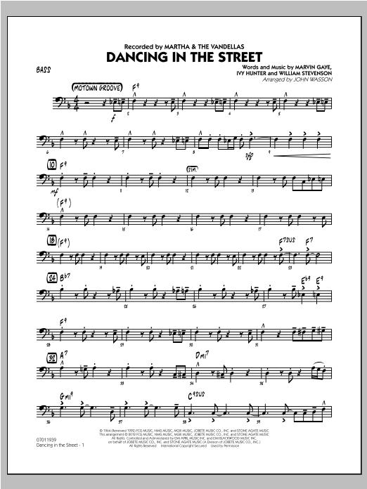 Dancing In The Street - Bass Sheet Music