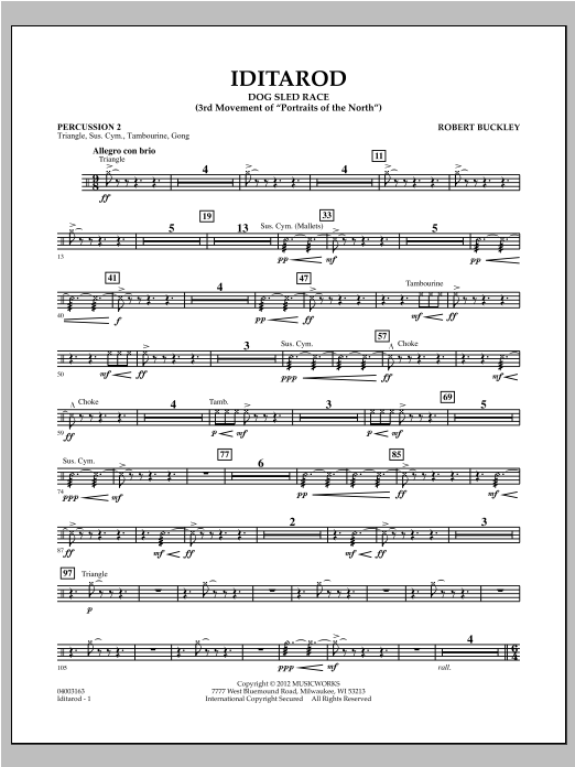 Iditarod - Percussion 2 Sheet Music