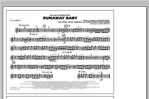 Runaway Baby - Bb Clarinet Sheet Music