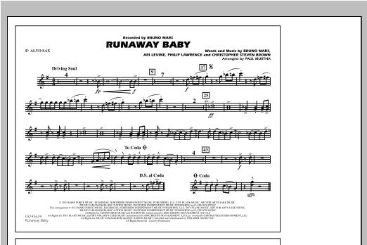 Runaway Baby - Eb Alto Sax (Marching Band)
