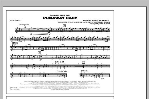 Runaway Baby - Bb Tenor Sax Sheet Music