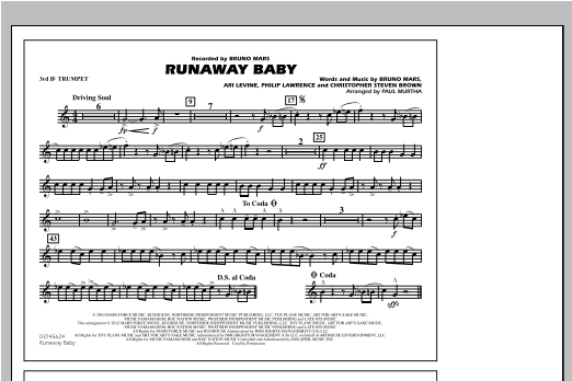 Runaway Baby - 3rd Bb Trumpet (Marching Band)