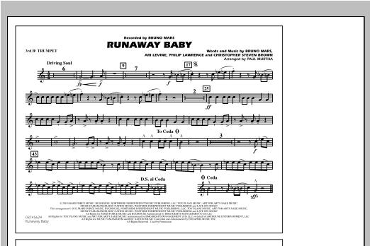 Runaway Baby - 3rd Bb Trumpet Sheet Music