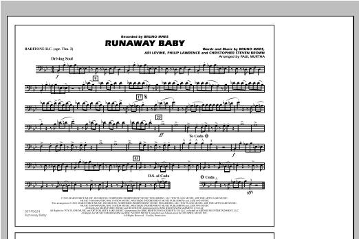Runaway Baby - Baritone B.C. (Opt. Tbn. 2) (Marching Band)
