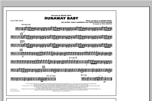 Runaway Baby - Electric Bass (Marching Band)