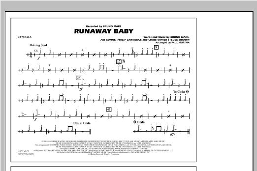 Runaway Baby - Cymbals (Marching Band)