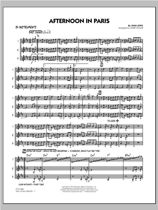 Jazz Combo Pak #34 (Modern Jazz Quartet) - Bb Instruments Sheet Music