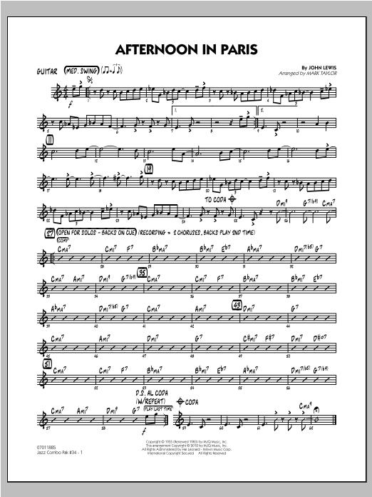 Jazz Combo Pak #34 (Modern Jazz Quartet) - Guitar Sheet Music