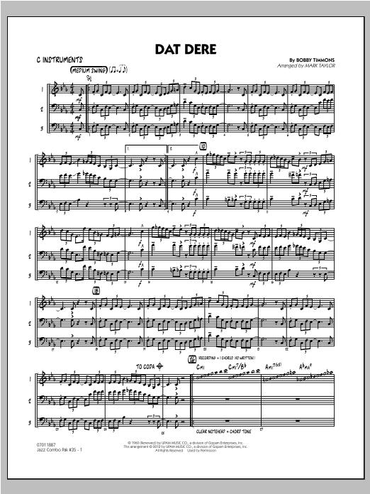 Jazz Combo Pak #35 (Cannonball Adderley) - C Instruments (Jazz Ensemble)