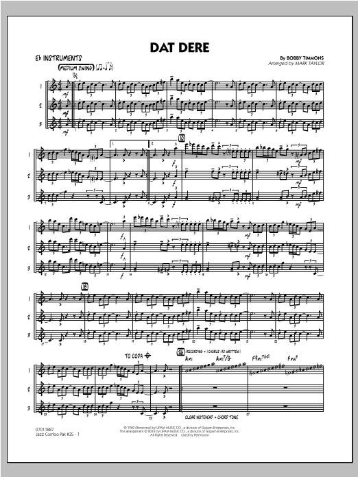 Jazz Combo Pak #35 (Cannonball Adderley) - Eb Instruments (Jazz Ensemble)