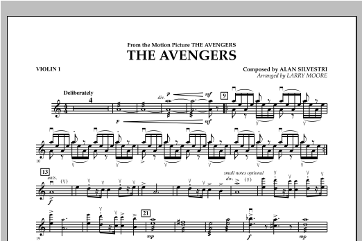 The Avengers (Main Theme) - Violin 1 Sheet Music