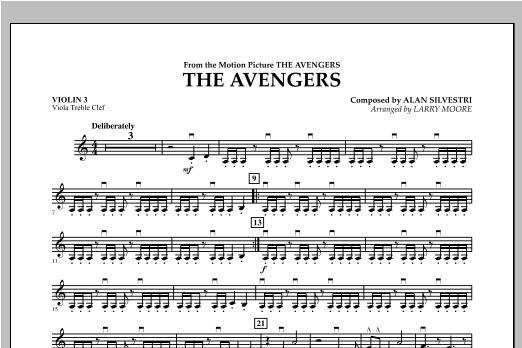 The Avengers (Main Theme) - Violin 3 (Viola Treble Clef) Sheet Music