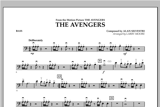 The Avengers (Main Theme) (arr. Larry Moore) - Bass (Orchestra)