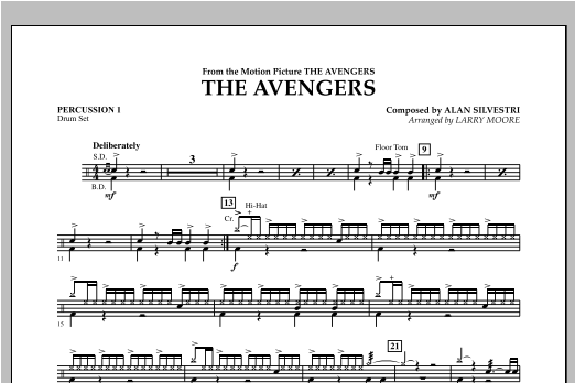 The Avengers (Main Theme) - Percussion 1 Sheet Music
