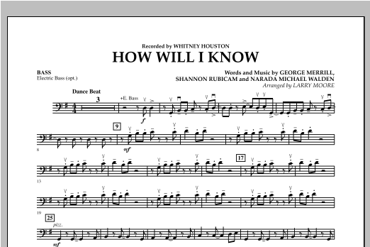 How Will I Know - Bass Sheet Music