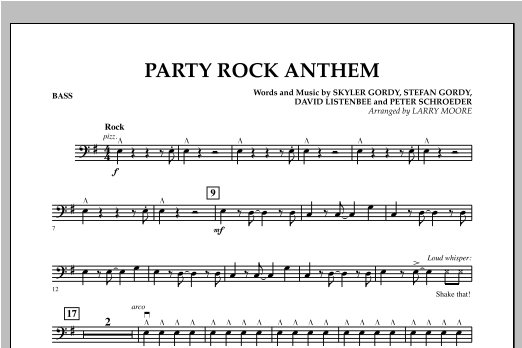 Party Rock Anthem - Bass Sheet Music