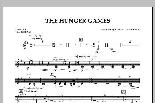 The Hunger Games - Violin 3 (Viola Treble Clef) Sheet Music