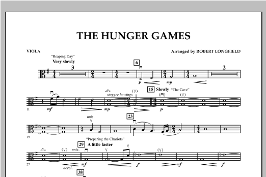 The Hunger Games - Viola Sheet Music
