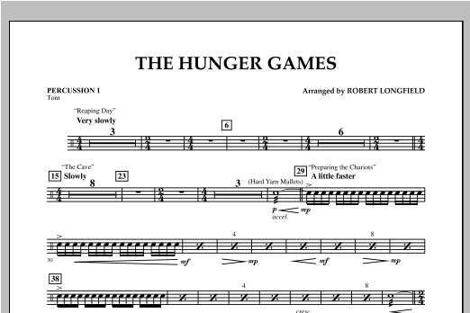 The Hunger Games - Percussion 1 Sheet Music