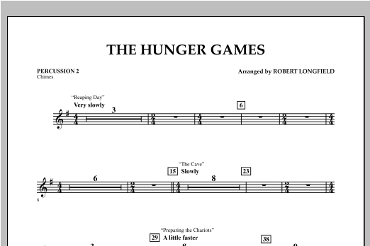 The Hunger Games - Percussion 2 Sheet Music