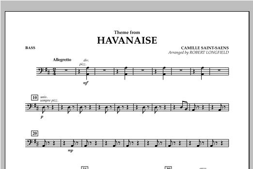 Theme From Havanaise - Bass Sheet Music