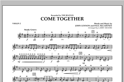 Come Together - Violin 2 Sheet Music