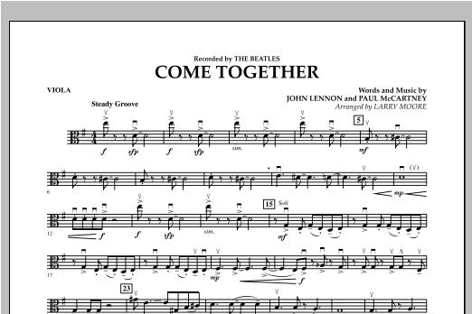 Come Together - Viola Sheet Music