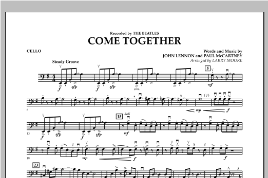 Come Together - Cello Sheet Music