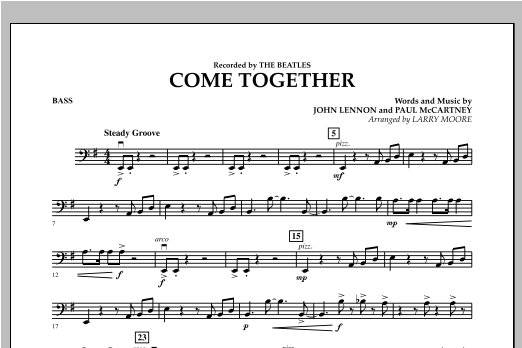 Come Together - Bass Sheet Music