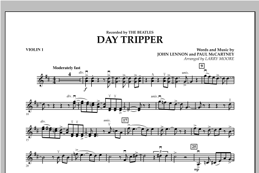 Day Tripper Piano By Larry Moore The Beatles Hal Leonard
