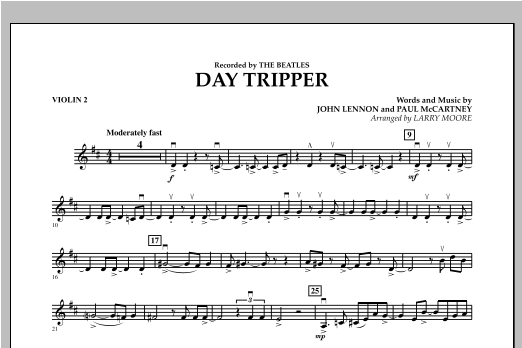 Day Tripper - Violin 2 Sheet Music
